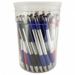 Monteverde® One Touch™ Screencleaner Ballpoint/Stylus Pens 50-Piece Tub: Assorted, Ballpoint, (model MV73720D), price per each