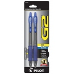 Pilot®  G2® Gel Roller Pens Bold Tip Blue 2pk: Blue, Gel, 2-Pack, Bold Nib, (model P31251), price per 2-Pack