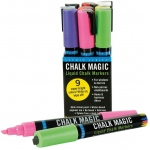 Peter Pauper Press Studio Series™ Peter Pauper Press Chalk Magic Liquid Chalk Marker Set: Assorted, Water-Based, 6mm, Chisel Nib, Paint Marker, (model PP8481), price per each