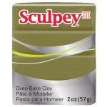 Sculpey® III Polymer Clay Camouflage: Green, Bar, Polymer, 2 oz, (model S302360), price per each