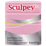 Sculpey® III Polymer Clay Princess Pearl: Red/Pink, Bar, Polymer, 2 oz, Oven Bake, (model S302530), price per each