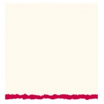 "Strathmore® 5 x 6.875 White/Red Deckle Creative Cards 20-Pack: Red/Pink, White/Ivory, Envelope Included, Card, 20 Cards, 5"" x 6 7/8"", 80 lb"