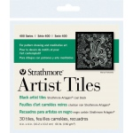 "Strathmore® Artagain® 4"" x 4"" Coal Black Artist Tiles: Black/Gray, Tile, 4"" x 4"", Medium, Mixed Media, 60 lb"