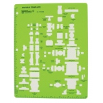 "Alvin® Oil Field Template: Green, 11"" x 8 1/2"" x .030"", Mechanical, (model TD10269), price per each"
