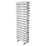 "Brookside Design Open Wall Racks for High Capacity Rolled Blueprint Storage 16 Bins: 16 Slots, Black/Gray, Steel, 11""d x 21""w x 84""h, (model VWR65), price per each"