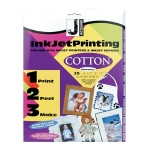 "Jacquard Cotton for Inkjet Printing: Sheet, Cotton, 30 Sheets, 8 1/2"" x 11"", (model JAC9802), price per 30 Sheets"