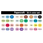 Copic Ciao Papercraft Set: Set A, 36 Pieces, 1 Each