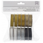 American Crafts - Glitter Tape 4ft 12 Pack Golden