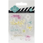 American Crafts - Heidi Swapp - Clear Mini Stamps - Journey
