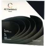 American Crafts - Textured Cardstock Pack - 12x12 60 Pack - Solid Black
