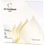American Crafts - Textured Cardstock Pack - 12x12 60 Pack - Solid White