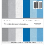American Crafts - Textured Cardstock Pad - 6x6 36 Pack Winter - 6 Colors/6 Each