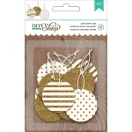 American Crafts - DIY Shop - 2 Tags 12 Pack Circle with Gold Glitter