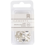 American Crafts - Elements Brads .1875in 50 Pack Silver