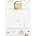 American Crafts - Heidi Swapp - Minc - Tracing Template 6.5inX8.5in - Enjoy