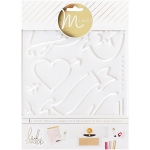 American Crafts - Heidi Swapp - Minc - Tracing Template 6.5inX8.5in - Love