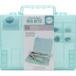 We R Memory Keepers - Crop A Dile - II Big Bite Carrying Case - Teal 6inX8.5inX1.25in