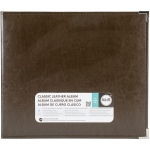 We R Memory Keepers - Classic Leather D - Ring Album 12x12 - Dark Chocolate