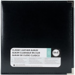 "We R Memory Keepers - Classic Leather D - Ring Album 12""x11.5""x2.5"" - Black"