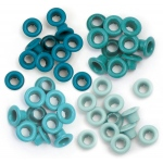 We R Memory Keepers - Eyelets - Standard - 60 Pack Aqua