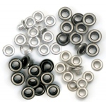 We R Memory Keepers - Eyelets - Standard - 60 Pack Cool Metal