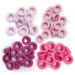 We R Memory Keepers - Eyelets - Standard - 60 Pack Pink