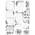 Prima - Love - Faith - Scrap Planner - Cling Stamps - Journaling