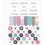 Prima - My Prima Planner - Cardstock Stickers 2 Pack Months - Arrows & Icons