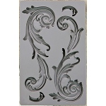 Prima - Iron Orchid Designs - Vintage Art Decor Mould - 5inX8in - Large Flourish