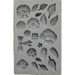 Prima - Iron Orchid Designs - Vintage Art Decor Mould - 5inX8in - Rustic Fleur