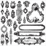 Prima - Iron Orchid Designs - Decor Clear Stamps - 12x12 - Hardware