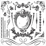 Prima - Iron Orchid Designs - Decor Clear Stamps - 12x12 - Signage II