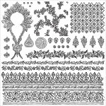 Prima - Iron Orchid Designs - Decor Clear Stamps - 12x12 - Bohemian