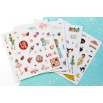 Prima - Julie Nutting Planner -  Clear Matte Stickers 4 Pack