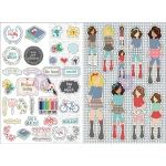 Prima - Julie Nutting Planner -  Monthly Stickers - 2 Pack - September