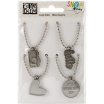 Simple Stories - Carpe Diem - Metal Charms with Ball Chains 4 Pack