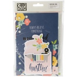 Simple Stories - Posh - Dashboards & Pocket Cards 24 Pack 12 Punched Inserts & 12 Cards - with Foil