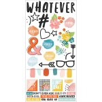 Simple Stories - Simple Sets-  #whatever Cardstock Stickers 6x12