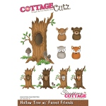 CottageCutz - Die - Hollow Tree with Forest Friends - 3.1inX4.5in