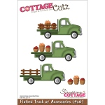 CottageCutz - Die - Flatbed Truck with Accessories 4.9inX2.2in