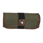 Global Art Materials™ Canvas Covered Pencil Roll Up Olive: 36 Pencils, Green, Canvas
