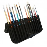 "Heritage Arts™ 13 3/4"" Brush Holder: 14 Brushes, Black/Gray, Nylon, Brush and Tool Holder"
