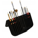 "Heritage Arts™ 10 1/2"" Brush Holder: 14 Brushes, Black/Gray, Nylon, Brush Holder"