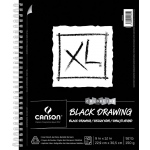 "Canson® XL® 9"" x 12"" Black Drawing Pad (Side Wire): Wire Bound, Black/Gray, Pad, 25 Sheets, 9"" x 12"", Drawing, (model C400077428), price per 25 Sheets pad"