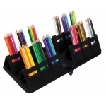 "Heritage Arts™ Pop-Up Pencil Case 8 1/2"" x 9 1/2"": 72 Pencils, Black/Gray, Nylon, Case, (model EPA72), price per each"