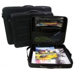 "Prestige™ Rugged Pro Deluxe Portfolio 23"" x 31"": Black/Gray, 2 1/4"", Vinyl, 23"" x 31"", (model EVM2331), price per each"