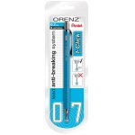 Pentel® Orenz™ 1-Click Mechanical Pencil Sky Blue: Blue, Black/Gray, .2mm, Mechanical, (model PP507SPABP), price per each