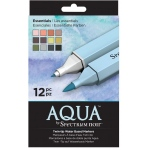 Spectrum Noir™ Twin-tip Water Based Markers 12-Set Essentials: Double-Ended, Water-Based, Dual, (model S-AQUA-ESS), price per set
