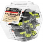 General's® 3-in-1 Sharpener Display: Three, Plastic, Manual, (model S6491CD), price per each