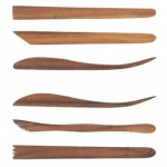 "Sculpture House Acacia Wood 8"" Tools: Set of 6"